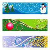 Winter Banners on white background