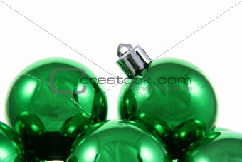 Green Holiday Baubles