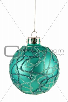 Aqua Christmas Bauble