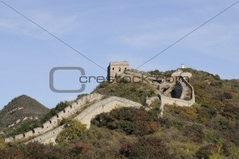 great wall with fire tower