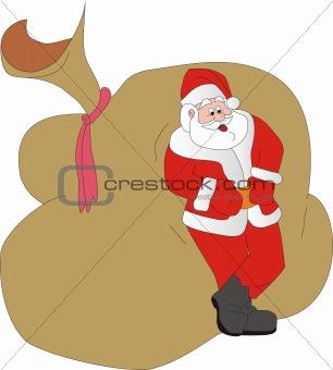 Santa Klaus has a rest