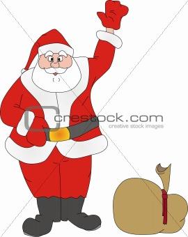 Santa Klaus welcomes