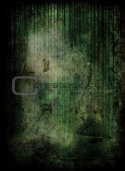 Green grunge scene