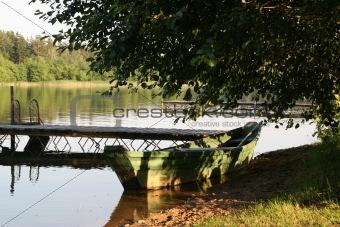 on lake
