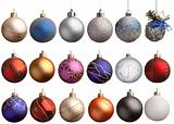 Set of 18 chrismas balls