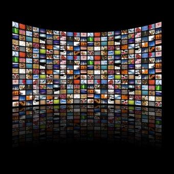 Multi media screens displaying images/information