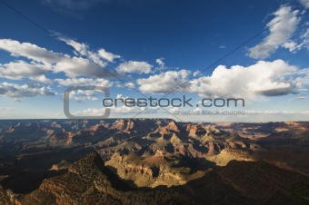 Grand Canyon during the day with blue sky