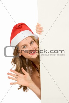 Blank sign - Mrs Santa Claus (with copy space)