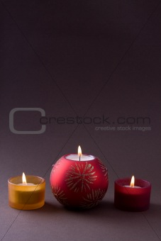 Christmas Candles with copyspace