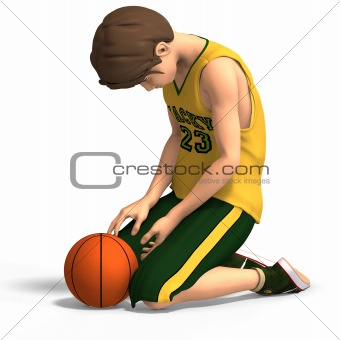 young man in basketball clothes