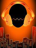 Music city in orange mood