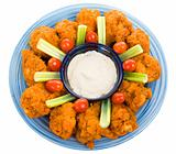 Chicken Wing Platter with Path