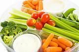 Raw Veggie Tray Closeup