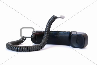 Black handset isolated