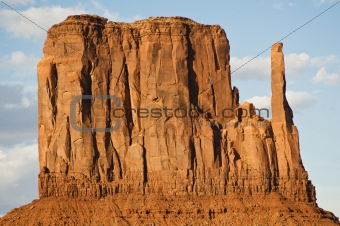 Close up of monument valley during the day