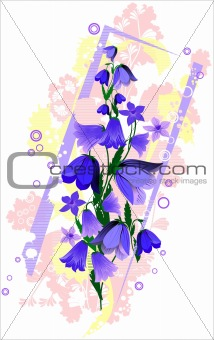 abstract design with flowers
