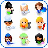 People&#39;s occupations. Icon set