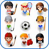 collection of sports vector