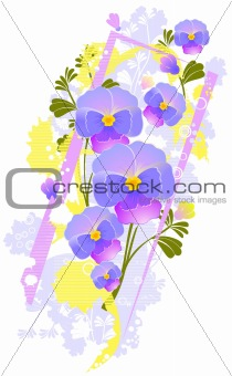 floral  violet abstract