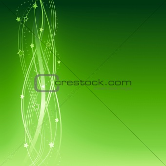 Green festive Christmas, New Years, anniversary background