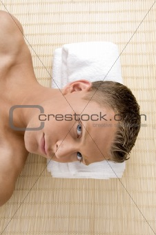close up of man at spa