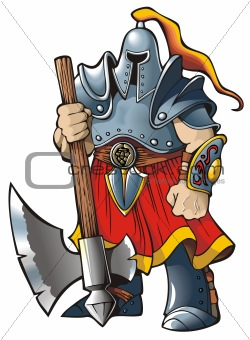Knight with an axe