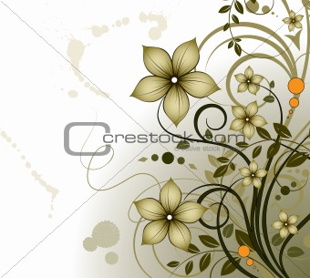 Floral  theme.