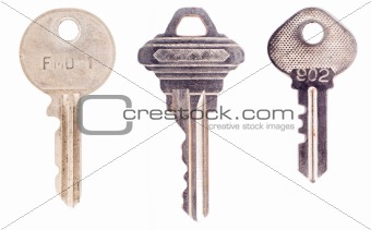 Three house keys