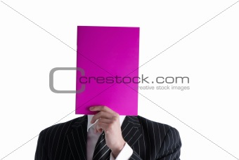 businessman and magazine
