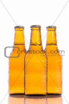 Three isolated cool Beers