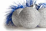 Silver spangled balls