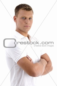 portrait of young man in cool pose
