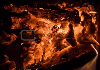 Hot coal texture