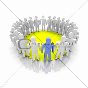 Work group illustration