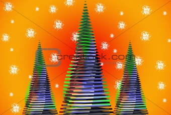 3d Abstract Christmas