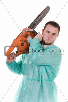 doctor with saw