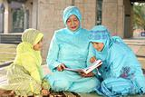 Muslim Mother and Kids