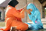 Muslim Mother and Child