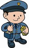 Illustration of mailman