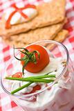 Healthy tomato snack
