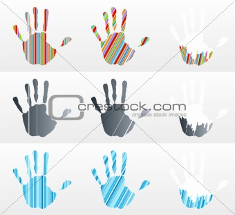 Handprint collection