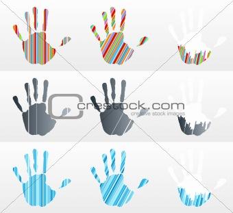 Handprint collection