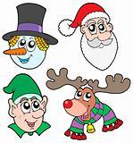 Christmas faces collection