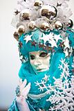 Snow flake Venetian mask