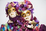 Purple Venetian costume with roses