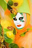 Colourful costume with fruit
