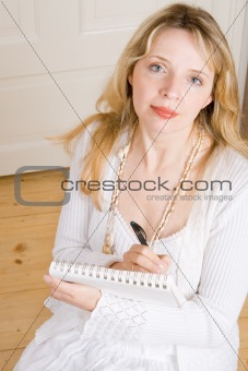A business woman taking notes (2)