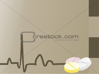 gray medical background with medicine_2