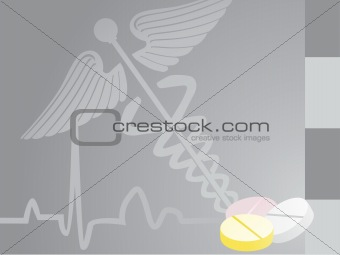 gray medical background with medicine_3