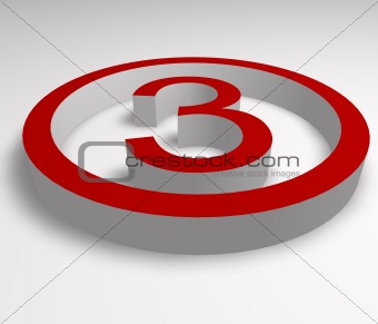 numbers button in red